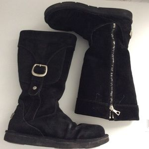 UGG Black Suede Cargo Boot Size 9